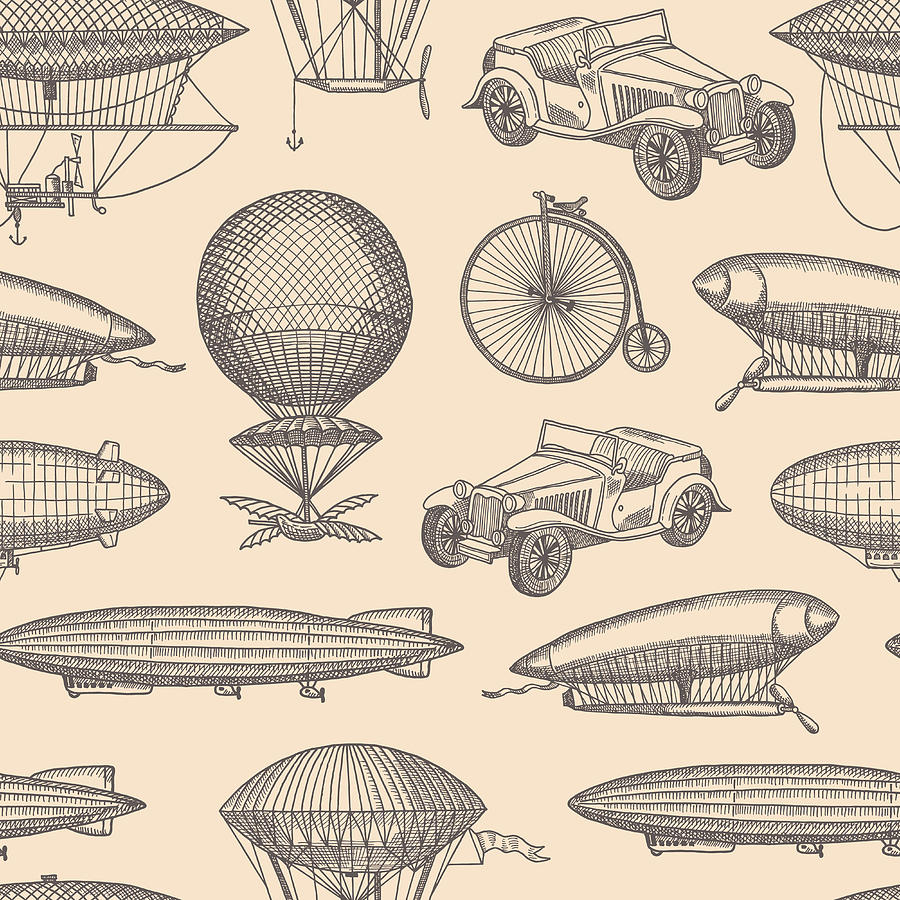 Vector Pattern With Steampunk Hand Digital Art by Onyxprj