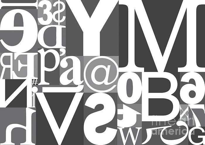 Cluster Digital Art - Vector Typography Blocks by Rob Pitman
