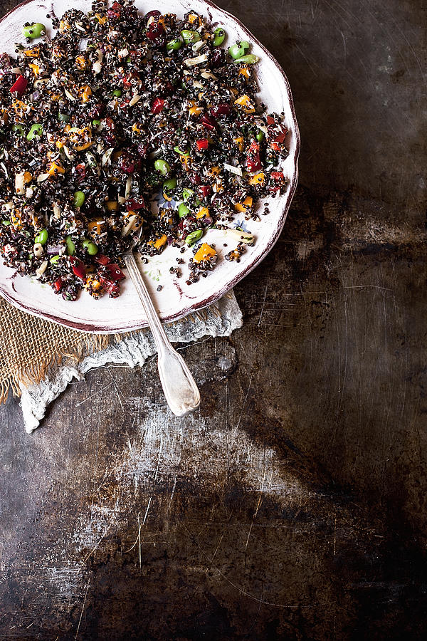Vegan Quinoa Salad Photograph by One Girl In The Kitchen