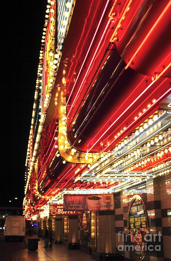 Neon Lights Photograph - Vegas Neon by John Rizzuto