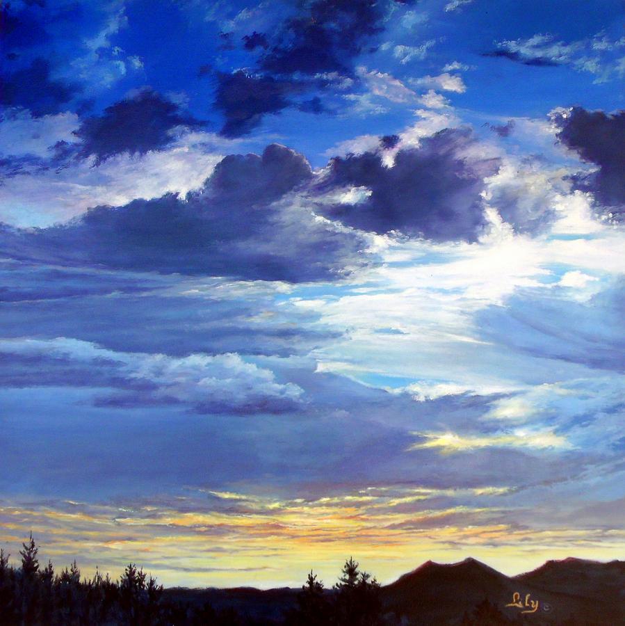 Las Vegas Painting - Vegas Sky by Lily Adamczyk