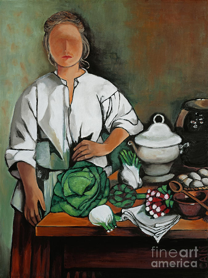 VEGETABLE LADY WALL ART by William Cain