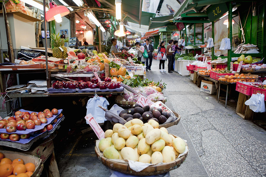 Vegetable Market, Hong Kong, China Photograph by Cultura Rm Exclusive/nancy Honey