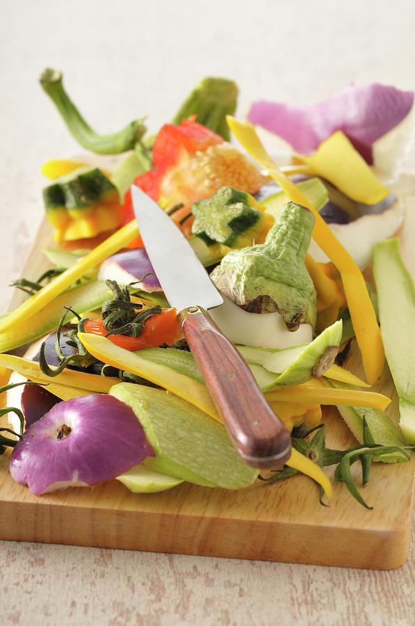 Vegetable Peelings Photograph by Riou