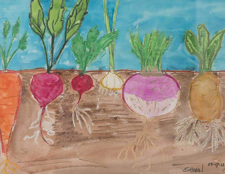 Vegetables Painting by Ethan Altshuler