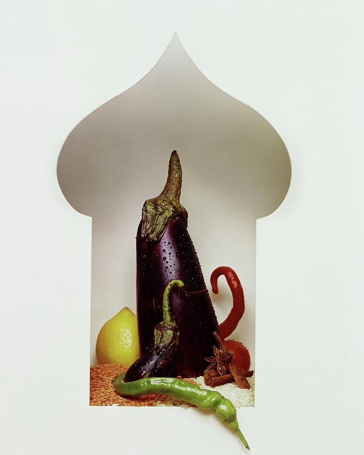 Vegetables In The Shape Of A Mosque Photograph by Fotiades