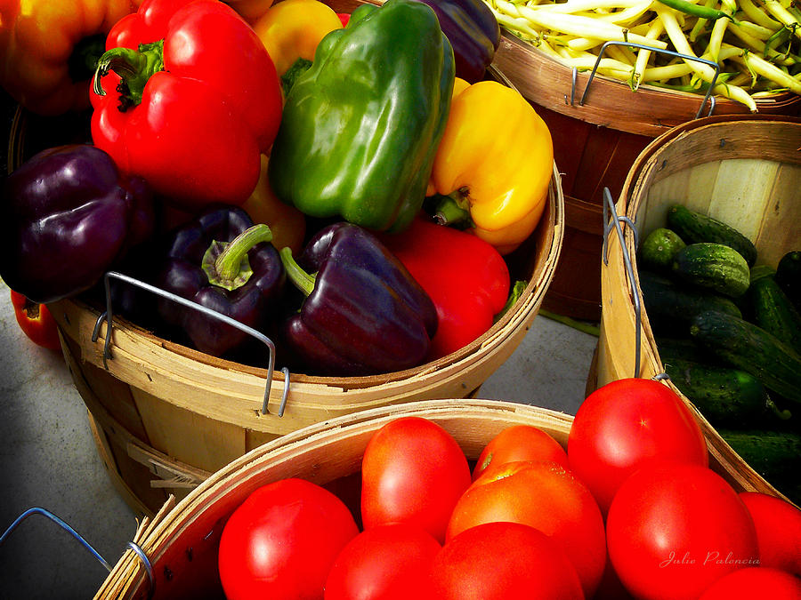 Organic Photograph - Vegetarian And Organic Farmers Produce by Julie Palencia