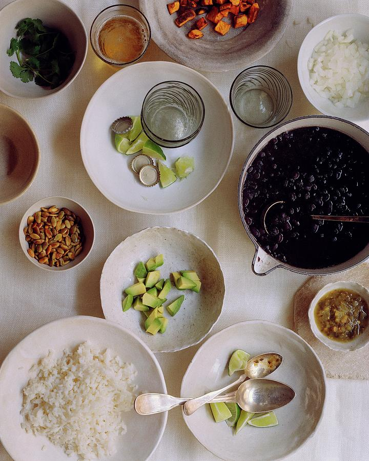 Vegetarian Dishes Photograph by Romulo Yanes