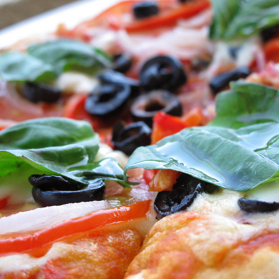 Food Photograph - Vegetarian Pizza by Keith May