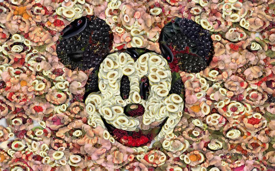 Mickey Digital Art - Veggie Mickey Mouse by Paulette B Wright