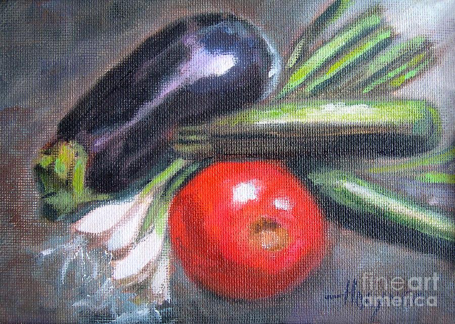 Veggies Painting - Veggies by Addie Hocynec