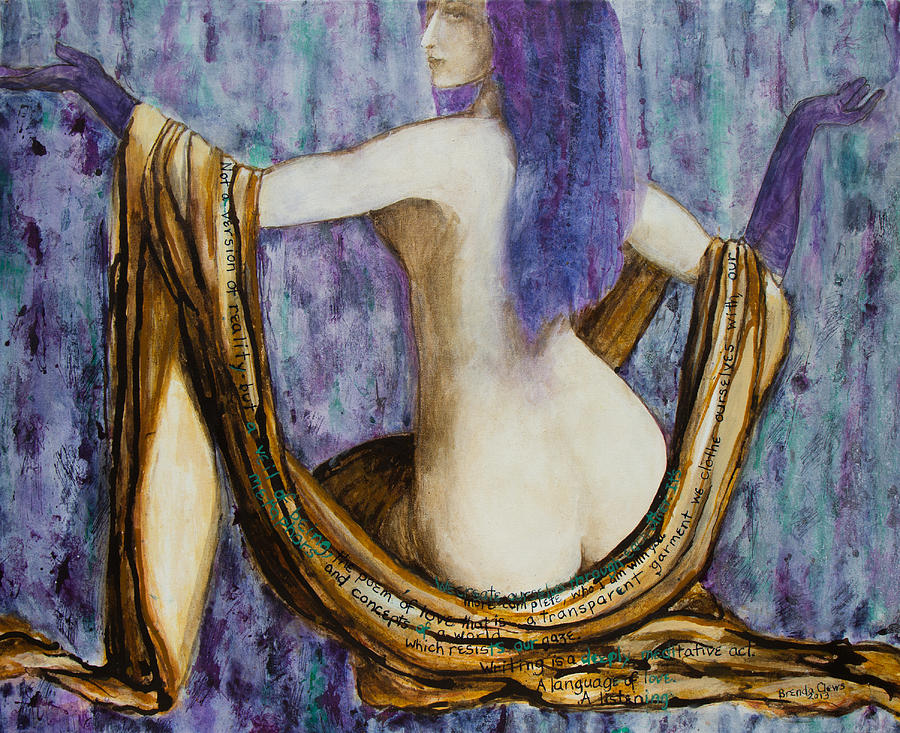Figurative Painting - Veils To Clothe Venus With by Brenda Clews