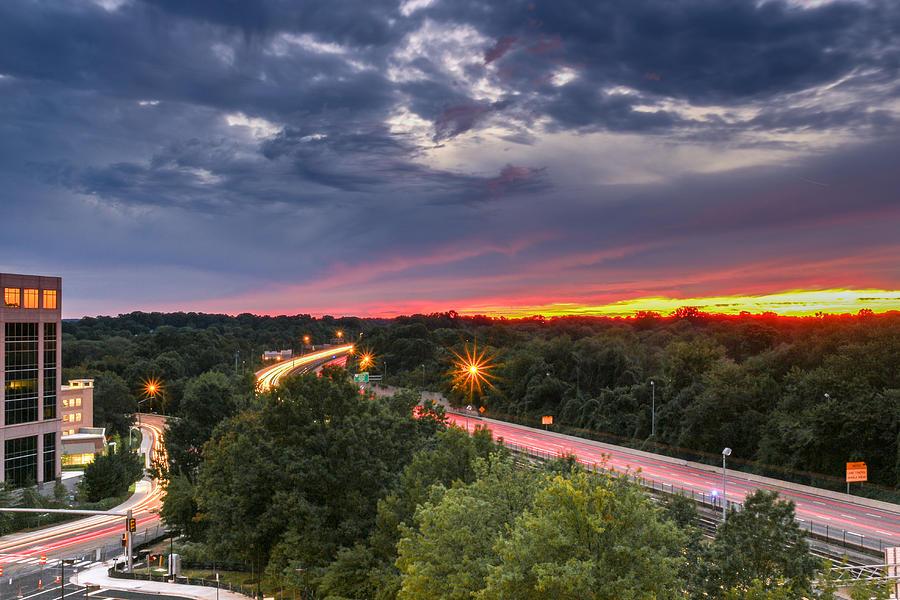 Landscape Photograph - Into The Sunset by Alex Daniels