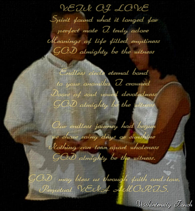 Eternal Bond Mixed Media - Vein Of Love Poem by Withintensity  Touch