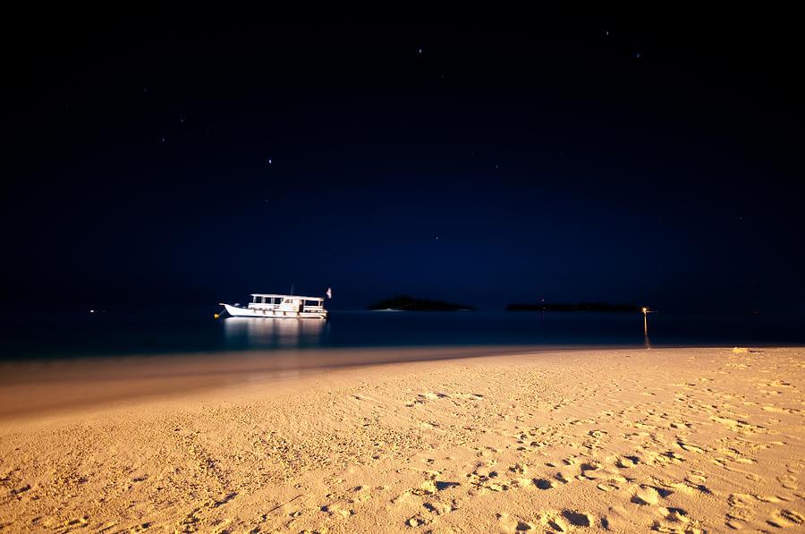 Tropical Photograph - Velvet Night On The Island by Jenny Rainbow