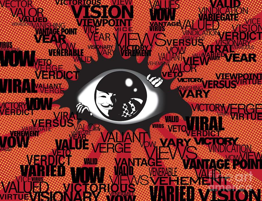 Eye Digital Art - Vendetta Typography by Sassan Filsoof
