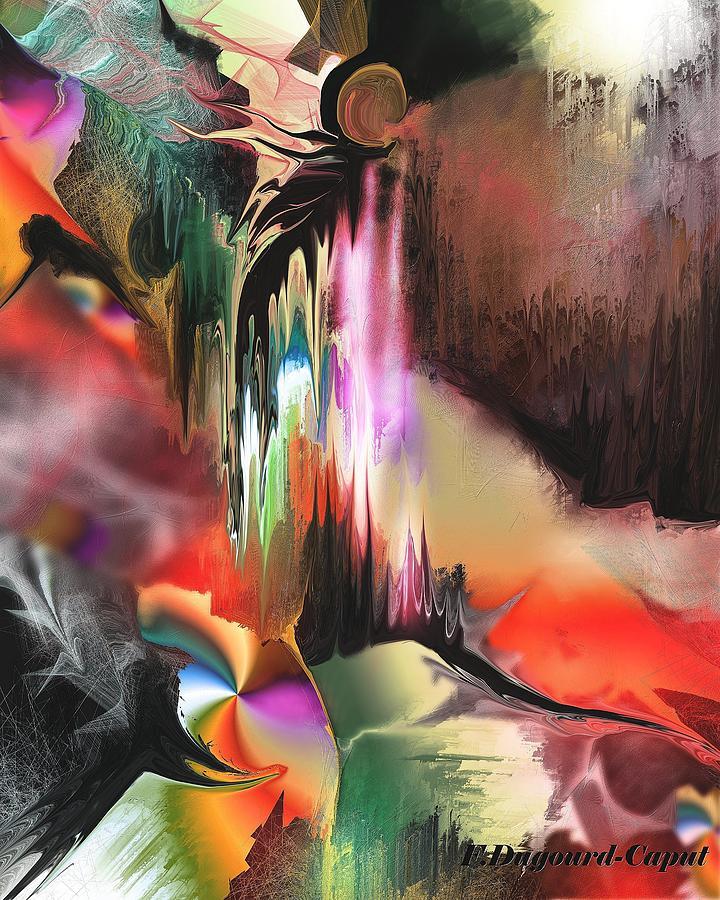 Abstract Digital Art - Venerable  by Francoise Dugourd-Caput