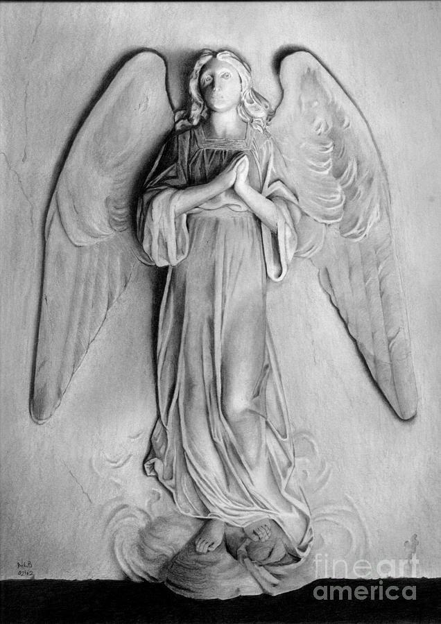 Statue Drawing - Venetian Angel by Nicola Butt