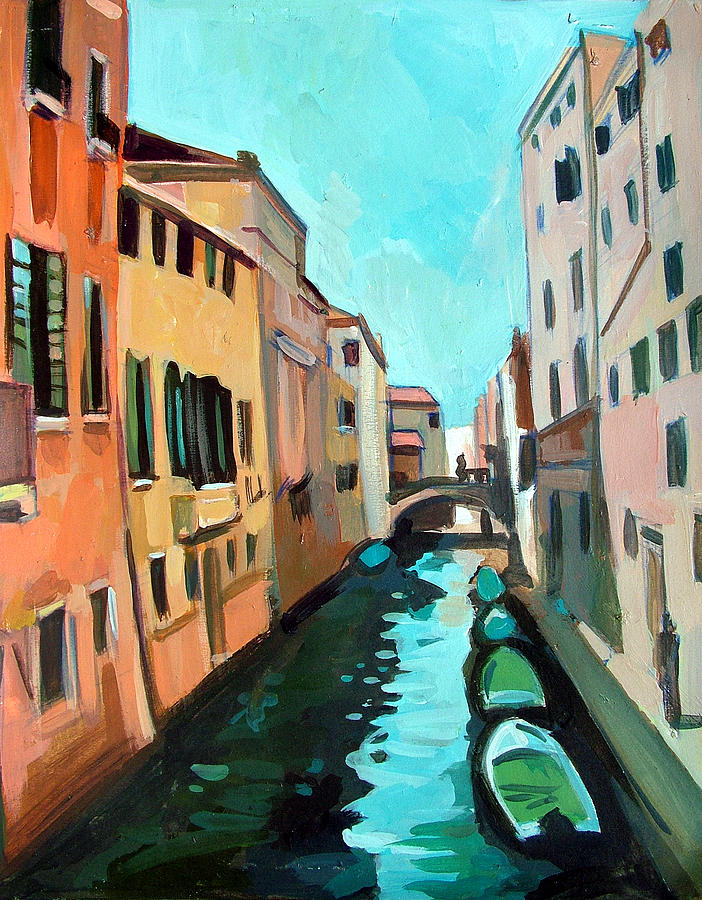 Waterway Painting - Venetian Channel by Filip Mihail