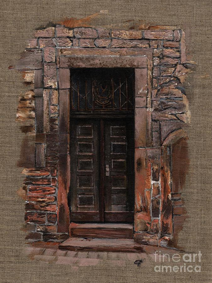 Venice Painting - Venetian Door 02 Elena Yakubovich by Elena Yakubovich