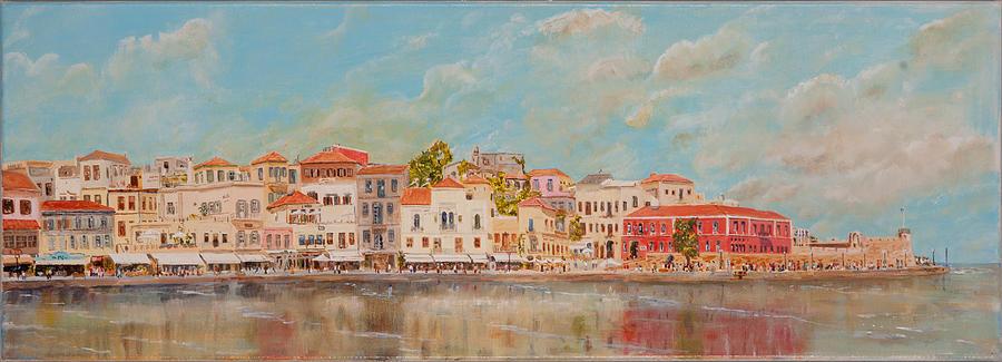 Venetian Harbour Chania Crete by David Capon