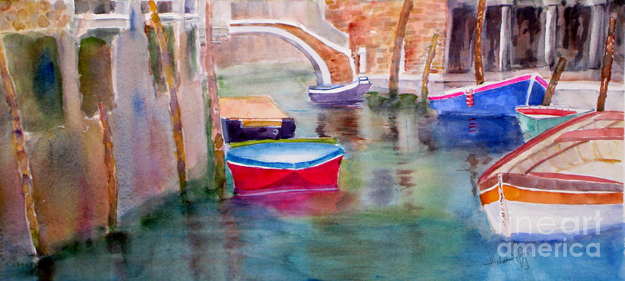 Architecture Painting - Venetian Hues by Mohamed Hirji