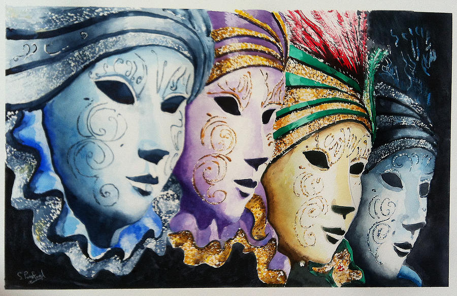 Venetian masks by Steven Ponsford