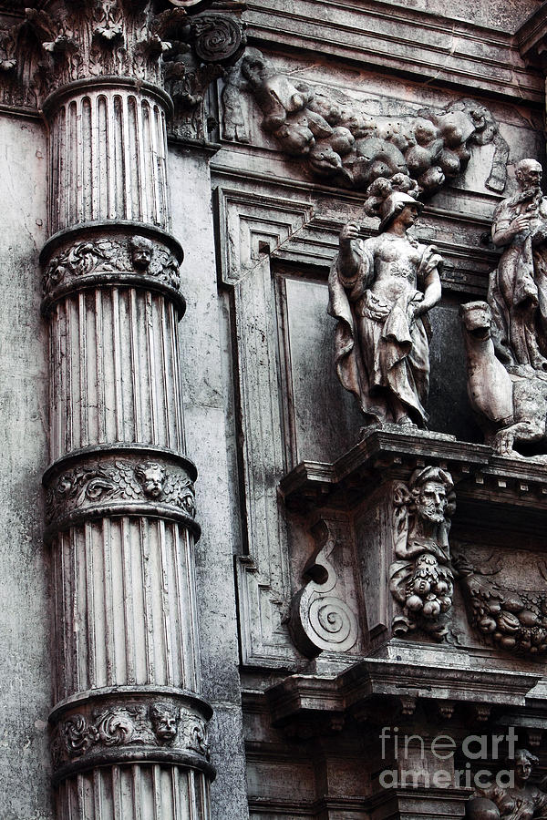 Old World Photograph - Venetian Statues by John Rizzuto