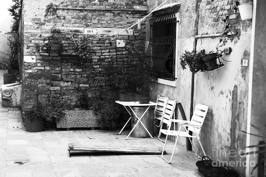 Old World Photograph - Venetian Street Scene by John Rizzuto