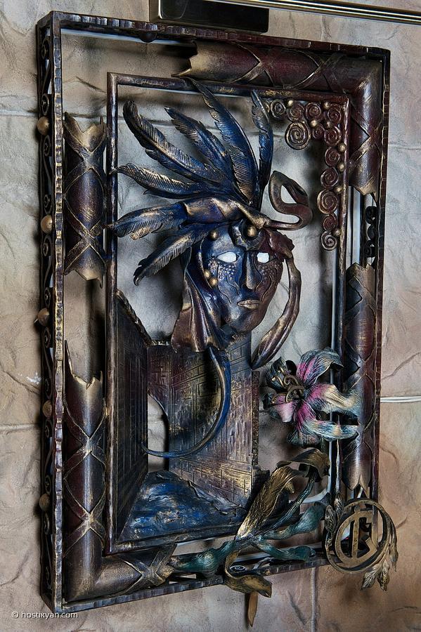 Mask Sculpture - Venetian Twilight by Arman Hostikyan
