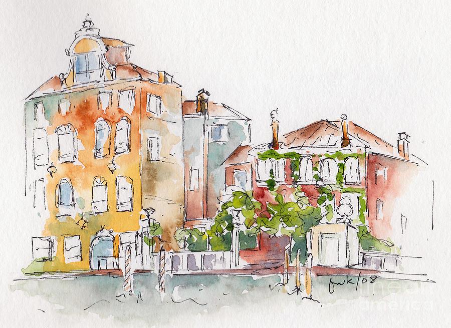 Impressionism Painting - Venezia Grand Canal by Pat Katz