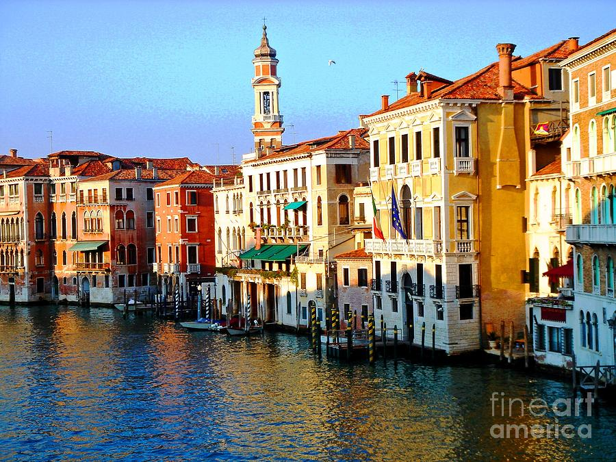 Water Canal Photograph - Venezia Grand Canal by Phillip Allen