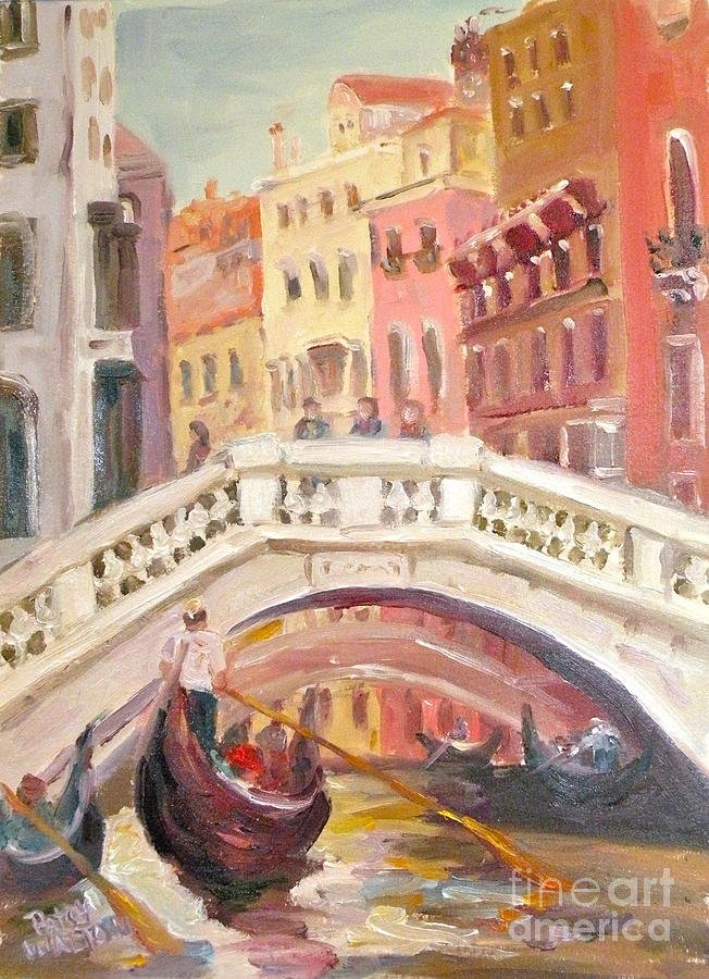 Gondola Painting - Venice Is For Lovers by Patsy Walton