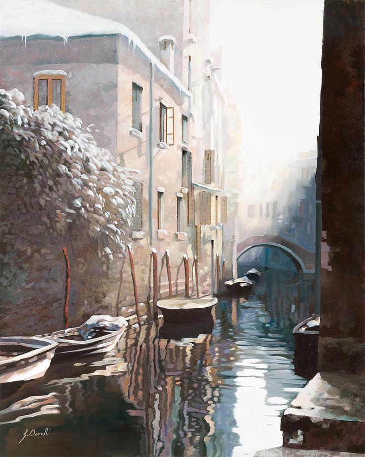 Venezia Sotto La Neve Painting