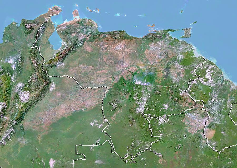 21st Century Photograph - Venezuela by Planetobserver/science Photo Library