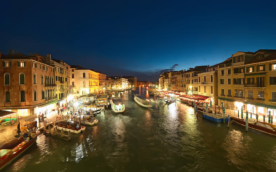 Venice At Night Photograph by Ioan Panaite