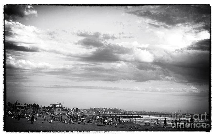 Noir Photograph - Venice Beach Noir by John Rizzuto
