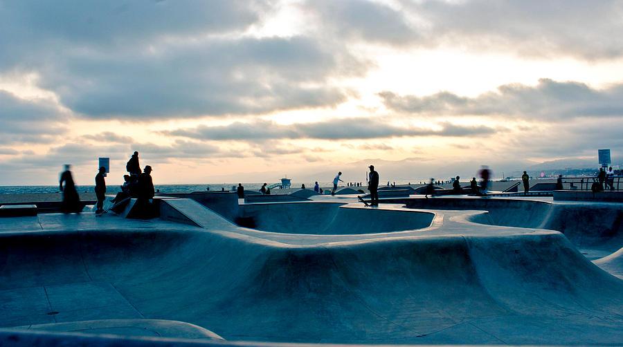 Venice Photograph - Venice Beach Skate Park by Rollie Robles