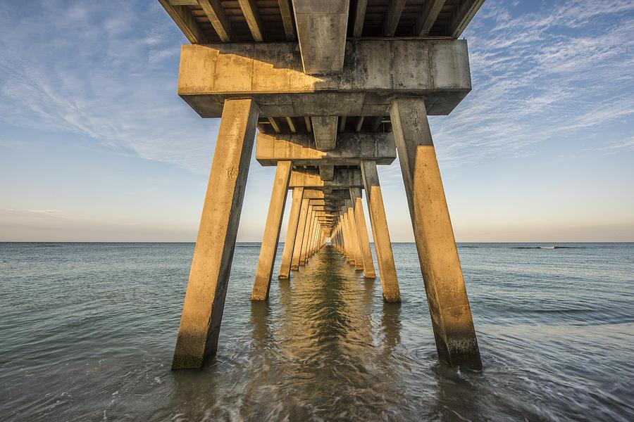 Beach Photograph - Venice Below the Pier by Jon Glaser