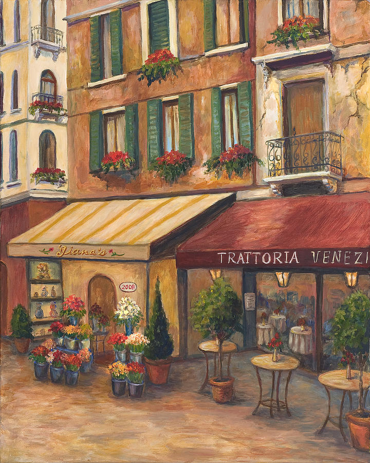 Venice Bistro Painting By Joanne Morris