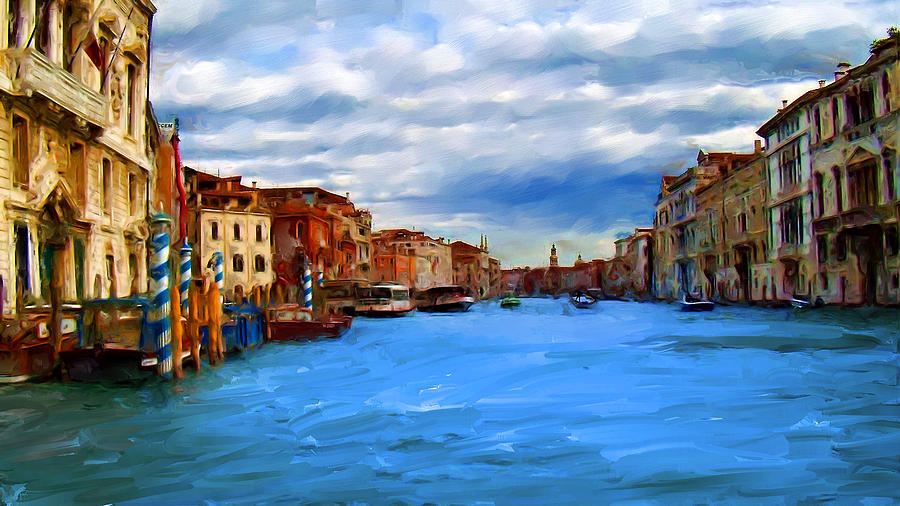 Venice Blue Digital Art by Cary Shapiro