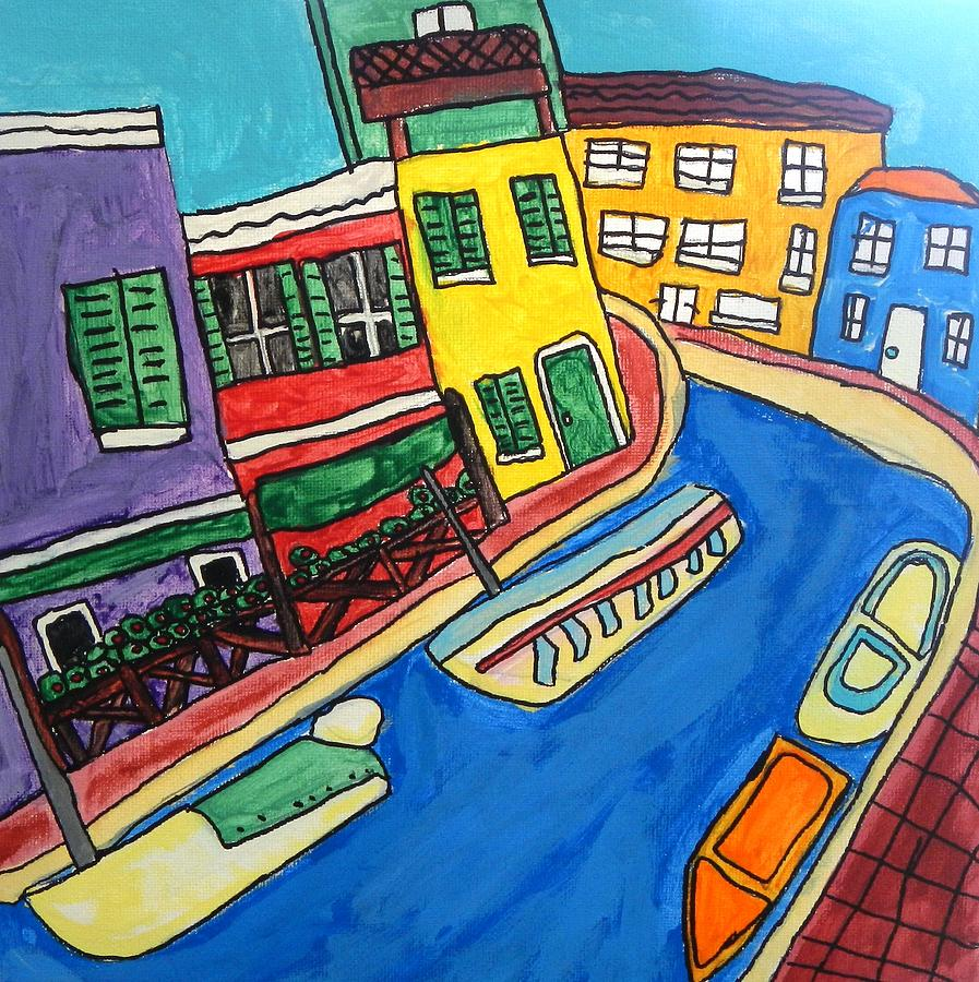 Venice Painting - Venice by Artists With Autism Inc