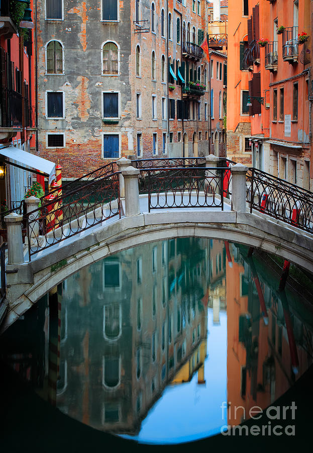Europe Photograph - Venice Bridge by Inge Johnsson