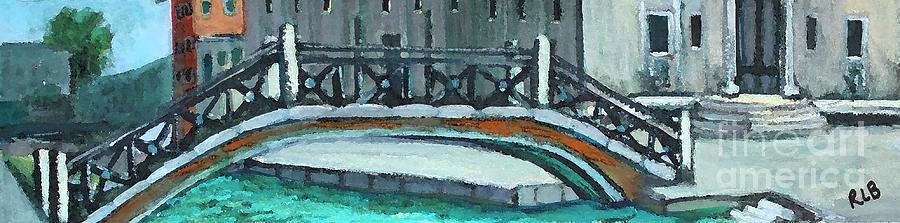 Watercolor Painting - Venice Bridge by Rita Brown