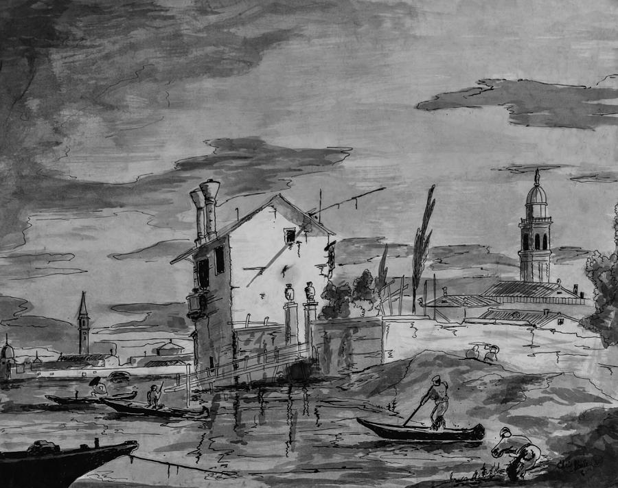 Drawing Drawing - Venice  by Chris Steele