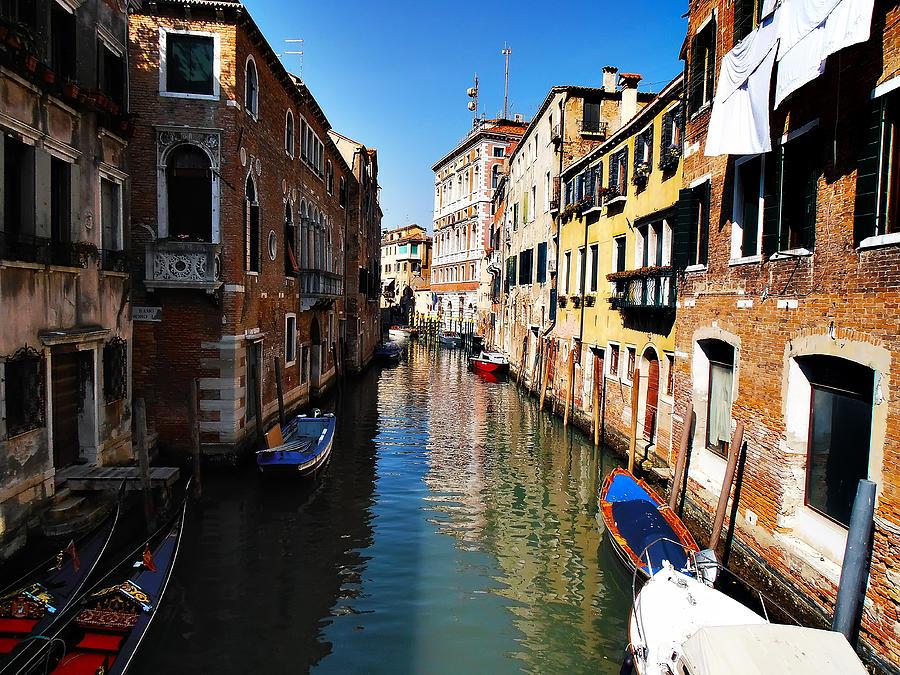 Venice Photograph - Venice Canal by Bill Cannon