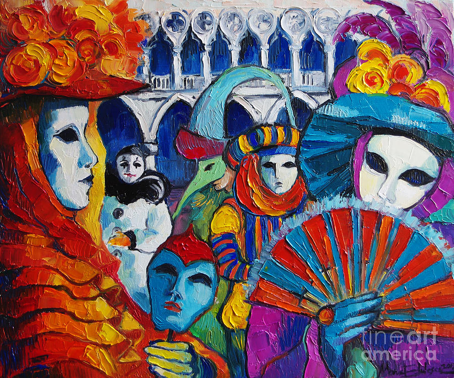 Venice Carnival Painting By Mona Edulesco