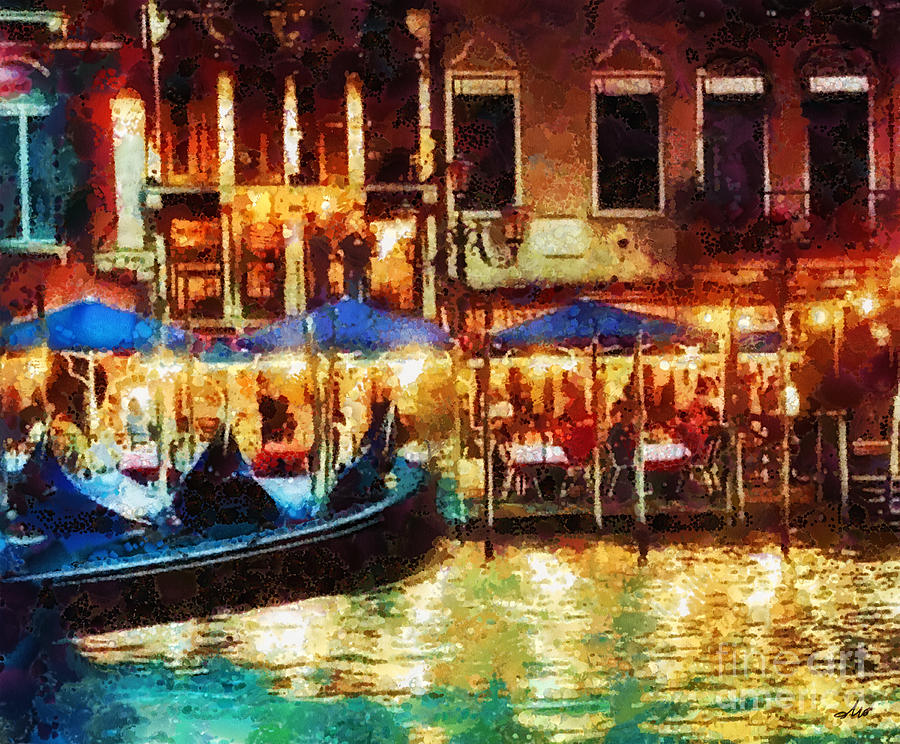 Venice Glow Painting - Venice Glow by Mo T