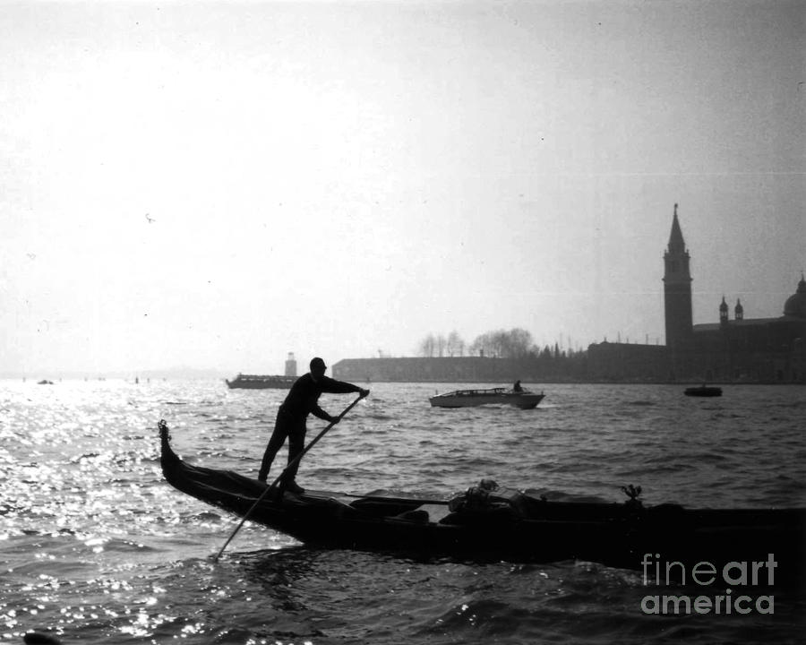Venice Photograph - Venice Gondola by Rita Brown