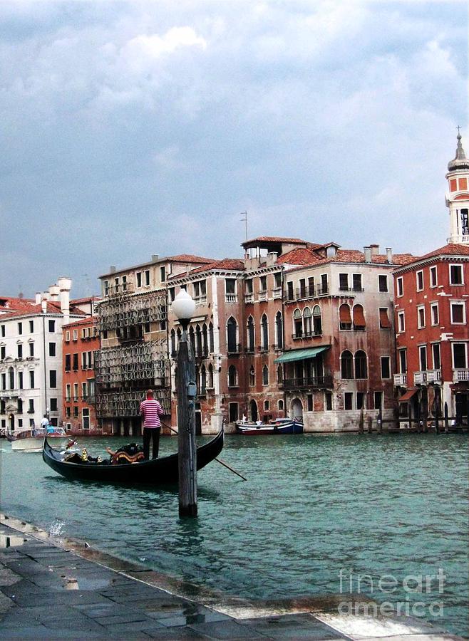Gondolier Photograph - Venice Gondola by Sandy MacNeil